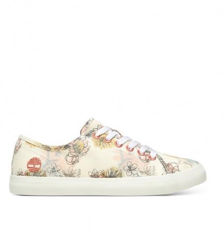 Chaussures Femme Timberland Newport Bay Oxford - Beige à motifs floraux