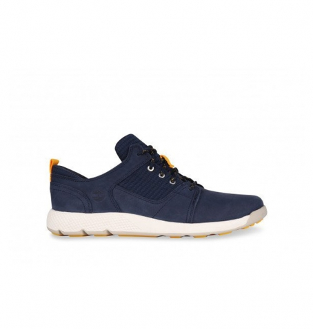 Chaussures Petit Enfant Timberland Flyroam Leather Fabric Oxford - Bleu