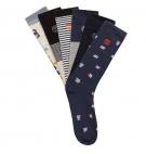 Lot de 6 paires de Chaussettes Homme Timberland Geo Stripe Crew