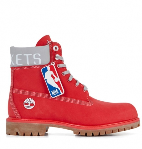 Boots Homme Timberland 6-inch Premium Boot - Rouge NBA Houston Rockets