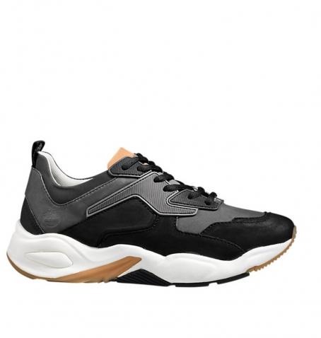 Chaussures Femme Timberland Delphiville Leather Sneaker - Noir nubuck