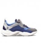 Chaussures Femme Timberland Delphiville Leather Sneaker - Bleu foncé
