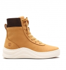 Chaussures Femme Timberland Ruby Ann Leather And Fabric Hightop Sneaker